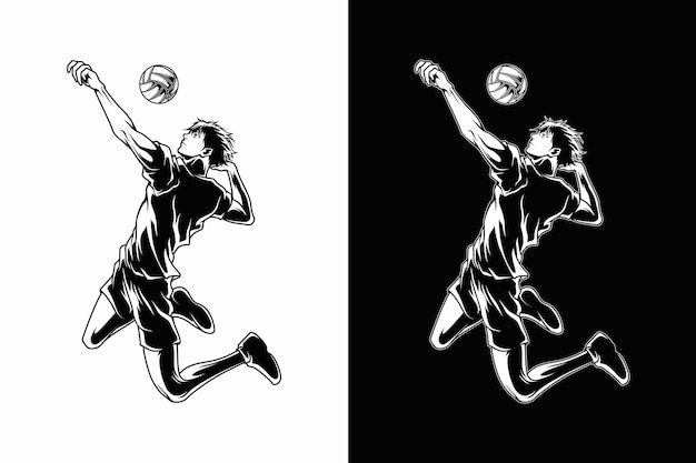 Volleyball sport illustration