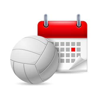 Volleyball und kalender