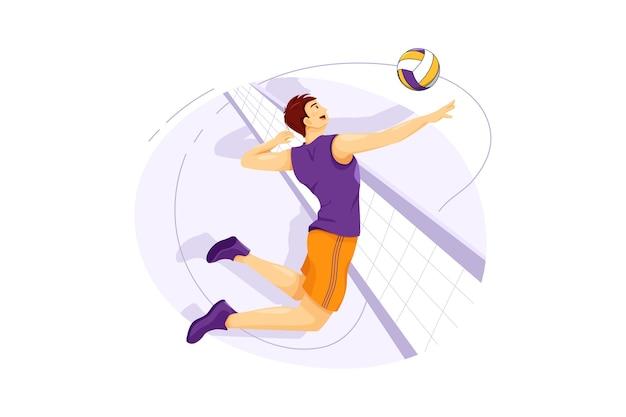 Volleyball-vektorillustrationskonzept