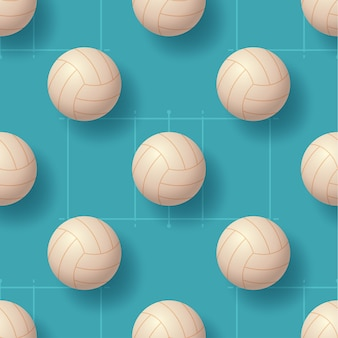 Volleyballball nahtlose pettern illustration