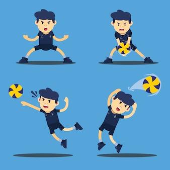 Volleyballspieler-charakterillustration