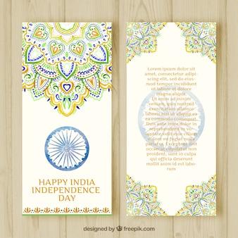 Vollfarbenfahnen für die unabhängigkeit tag von indien