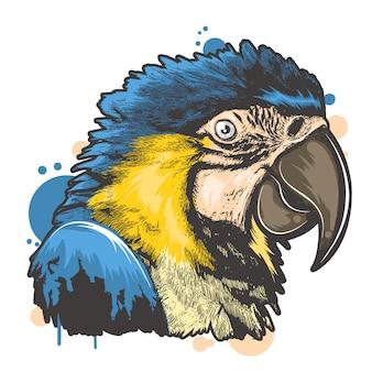 Vollfarbiger vogel