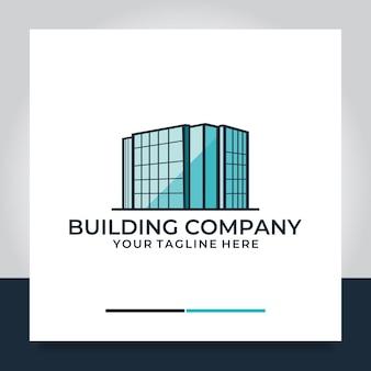 Vollfarbiges logo-design für gebäude oder wohnungen