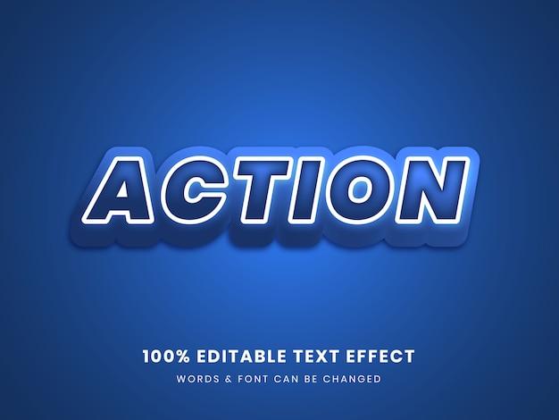 Vollständig bearbeitbarer texteffekt der aktion 3d