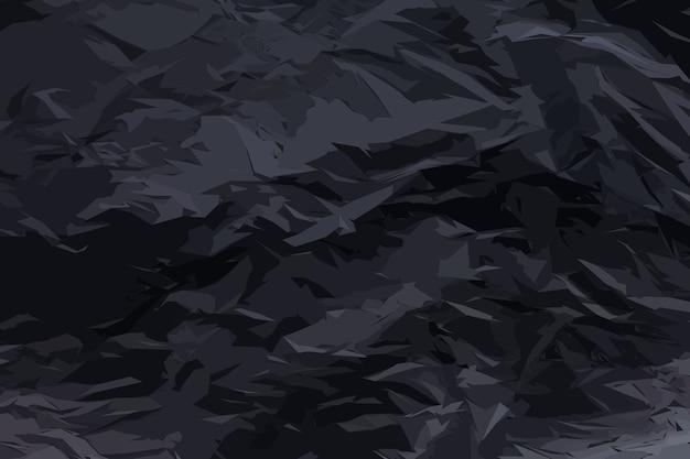 Vollständig verbranntes schwarzes blatt papierstrukturhintergrund. faltiges verkohltes papiermuster mit kopierraum