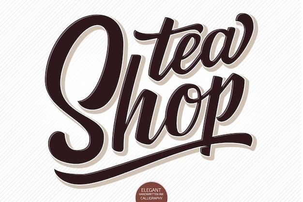 Volumetrischer schriftzug - tea shop
