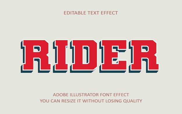 Vom fahrer bearbeitbarer text effekt