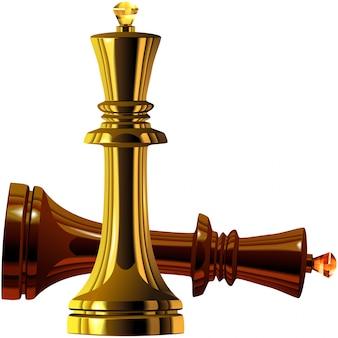 Vom schachsieg von weiß über schwarzkönig