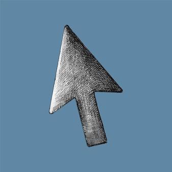 Von hand gezeichnete pfeil-cursor-illustration