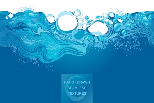 Von hand gezeichnete vektorillustration des wasserspritzens