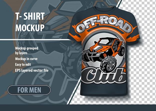 Von t-shirts mit dem logo des utv buggy offroad clubs