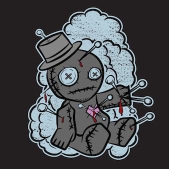 Voodo puppen für t-shirt design