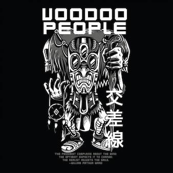 Voodoo-leute schwarzweiss