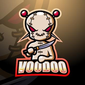 Voodoo maskottchen esport lillustration