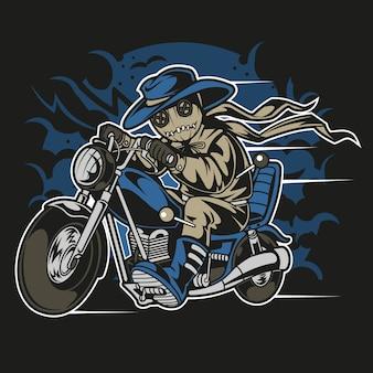 Voodoo puppe biker