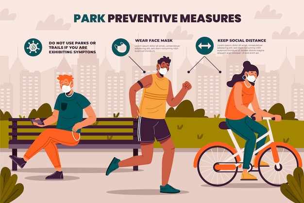 Vorbeugende maßnahmen im park