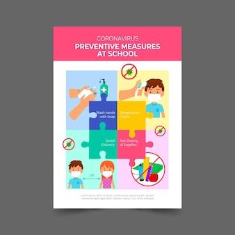 Vorbeugende maßnahmen in der schule - plakat