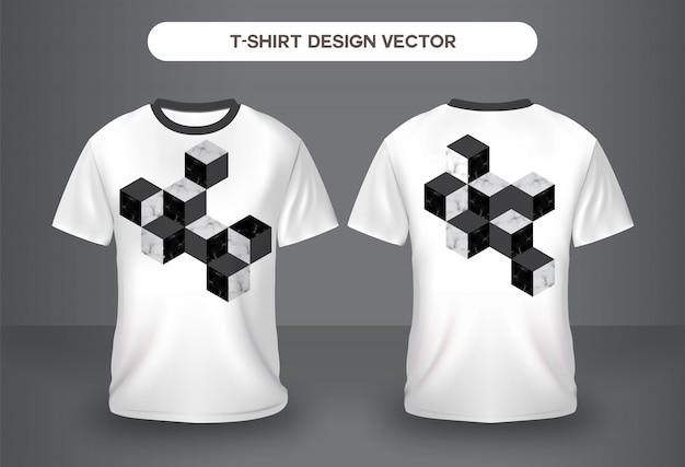 Vorder- und rückansicht des marmornaturt-shirts.