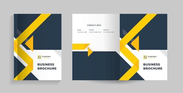 Vorder- und rückseite für broschüre, firmenprofil, vorschlag, jahresbericht