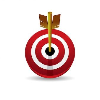 Vorderansicht der ikone des vektors des bullseye 3d