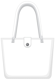 Vorderseite der weißen basic-handtasche isoliert