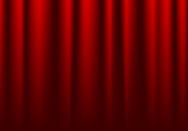 Vorderseite des geschlossenen roten theatervorhanghintergrundes