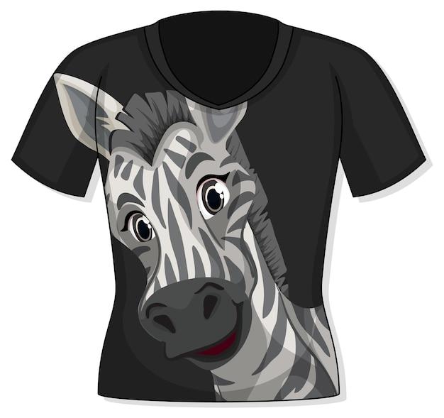 Vorderseite des t-shirts mit zebramuster