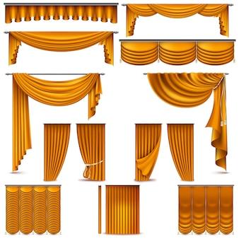 Vorhänge und vorhänge innendekoration objekt.