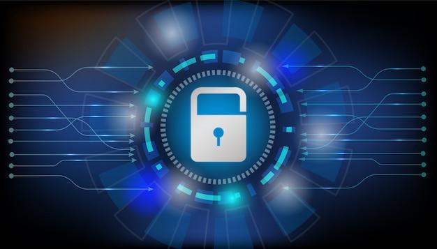Vorhängeschloss mit schlüsselloch internet-sicherheitskonzept