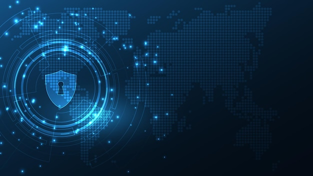 Vorhängeschloss sicherheit cyber digital concept schutzsystem