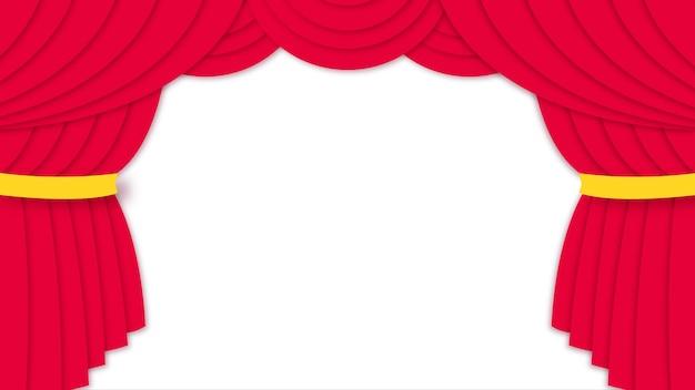 Vorhang im papercut-stil öffnen