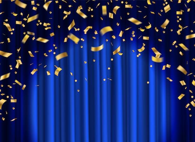 Vorhang mit konfetti