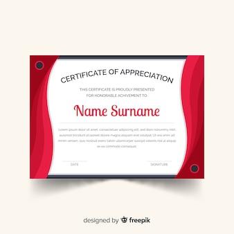 Vorhang-zertifikatvorlage