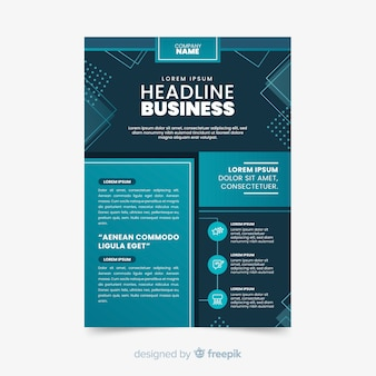 Vorlage abstrakt business flyer