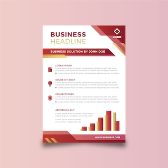 Vorlage abstrakt business flyer