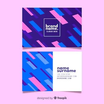 Vorlage abstrakte geometrische visitenkarte