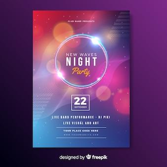 Vorlage abstrakte lichteffekt musikplakat