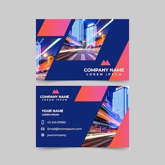 Vorlage abstrakte visitenkarte mit foto