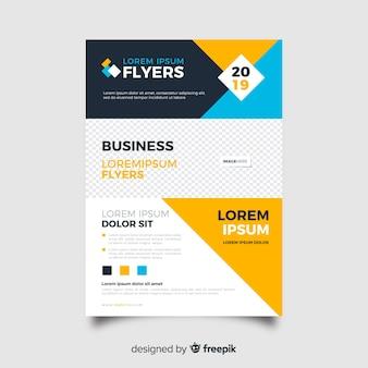 Vorlage business flyer abstrakt