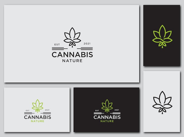 Vorlage cannabis design logo gesundheit symbol