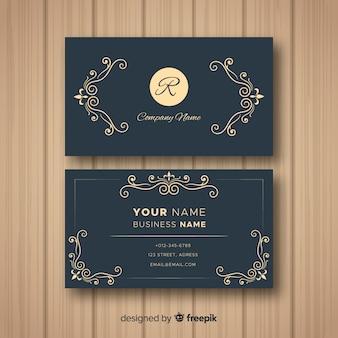 Vorlage der eleganten visitenkarte