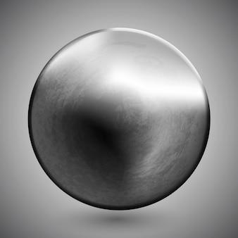 Vorlage einer runden metallscheibe oder eines knopfes mit dunklem stahlstruktur-metallmaterial-engineering-objekt