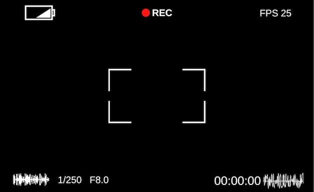 Vorlage-fokussierungsbildschirm der kamera.