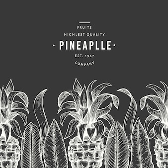 Vorlage für ananas und tropische blätter.