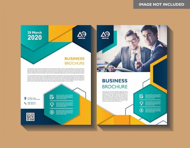 Vorlage für broschüre jahresbericht magazin cover flyer