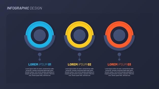 Vorlage für bunte infografikschritte