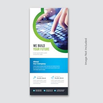 Vorlage für business rollup-banner