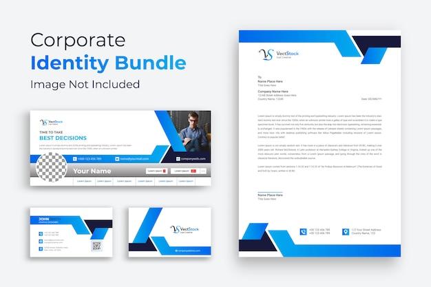 Vorlage für corporate branding-identität