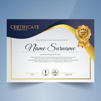 Vorlage für creative certificate of appreciation award
